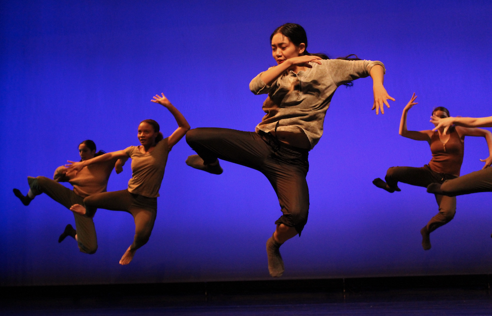 Dancers from our Spring 2019 show performing choreography by Nadia Halim and Melody Tai onstage.