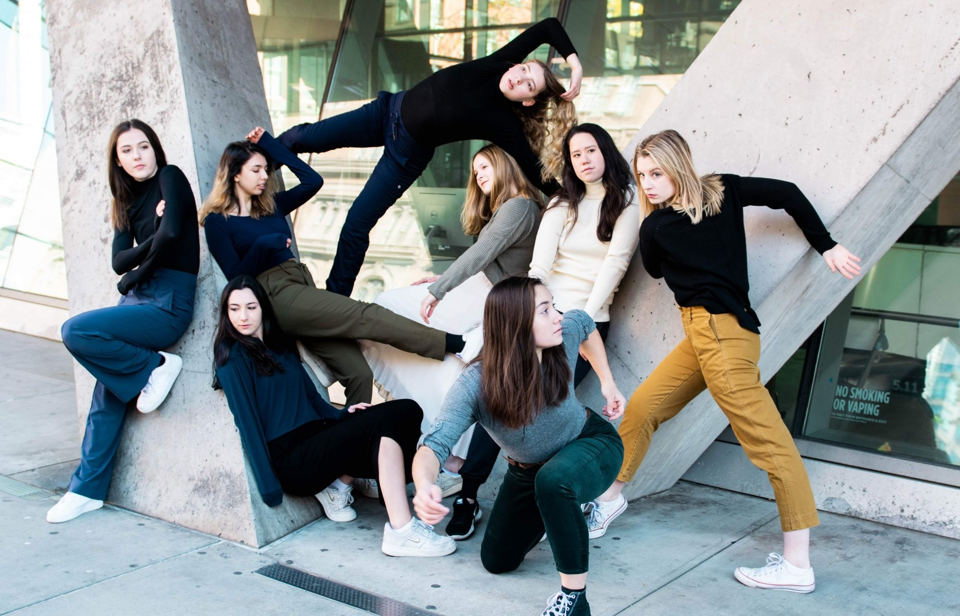 Cast of Terraform (the MaMa Project 2018-2019, choreographed by Melody Tai) in promotional photography captured by Savannah Lim